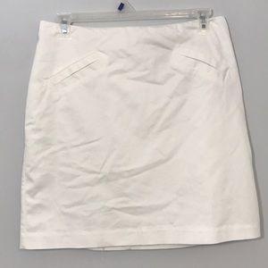 Worthington Size 12 White Pencil Short Skirt